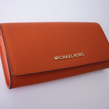 Michael Kors Purse / Purse Jet Set Travel Leather Tangerine NEW