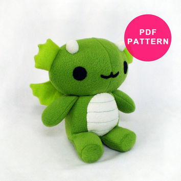 Dragon Plush Pattern Plushie Sewing Pattern