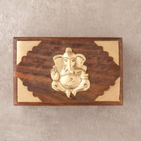 Wooden Ganesh Treasure Box