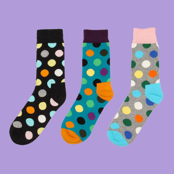 Polka Dot Sock Set (Set of 3)