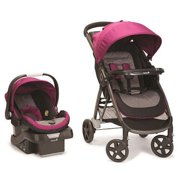 Safety 1st Step and Go Travel System Stroller - Magenta Rose
