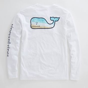 Long-Sleeve Whale Beach Pocket T-Shirt