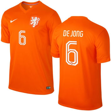 Nigel de Jong Netherlands Nike 2014 World Soccer Replica Home Jersey - Orange - http://www.shareasale.com/m-pr.cfm?merchantID=7124&userID=1042934&productID=541930126 / Netherlands