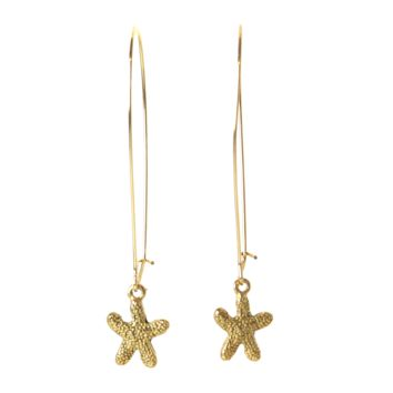 Mini Starfish Dangler Earrings in Gold- Summer Style