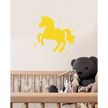 Vinyl Wall Decal Silhouette Little Pony Unicorn Stars Magic Tale Stickers (3722ig)