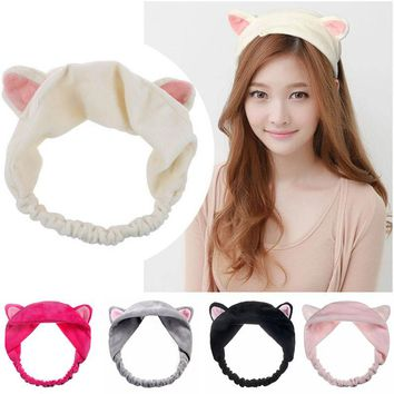 2018 Cat Ear Hairbands Headbands Party Gift Headdress Hair Head Band Headwear Ornament Trinket Hair Accessories Makeup Tools