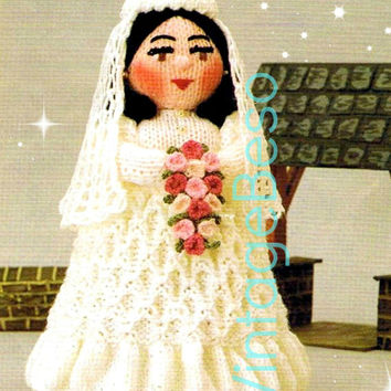 THE BRIDE Knitting Pattern Instant Download Pdf Vintage Woolly Wotnot Knitting Pattern Doll Toy Vintage Beso Knitting Pattern