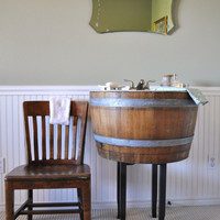 Bathroom Vanity Sink,  Made of Wine Barrel