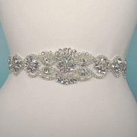 Wedding Dress Belt Bridal Belt Sash Belt Pearls Belt Rhinestone Belt Crystal Belt Rhinestones and Pearls Sash Wedding Sash Dress Sash