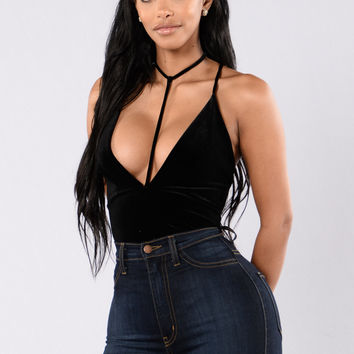 Distract Me Bodysuit - Black