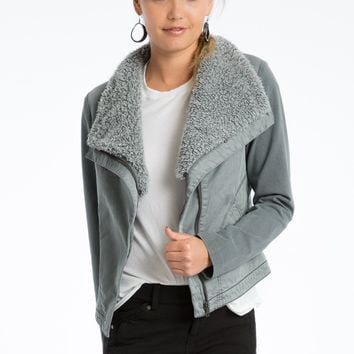 Saya Sherpa Collared Jacket