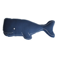 Wally the Whale Pillow in Navy | Dorm Room Decor | OCM.com