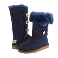 UGG Kids Bailey Button Triplet (Big Kid 2) Navy Blue - Zappos.com Free Shipping BOTH Ways