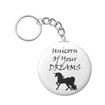 Unicorn Of Your Dreams (Black) Keychain