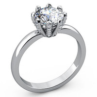 Solitaire Engagement Ring Solitaire Ring 18K gold Ring White Gold ring Jewelry