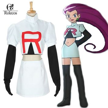 Go Cosplay Anime Pocket Monster  Team Rocket Jesse Cosplay Costumes  Cosplay SuitKawaii Pokemon go  AT_89_9