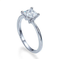 Solitaire Engagement Ring, 1.25 CT Diamond Ring, 14K White Gold Ring, Solitaire Ring, Unique Engagement Ring, Bridal Jewelry