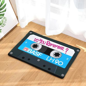 Do You Remember? Vintage Music Tape Welcome Doormat