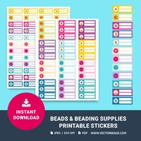 Printable Stickers for Organizing Beads & Beading Supplies - NEW!