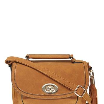 Tan Tassel Front Satchel Bag - View All New In - New In