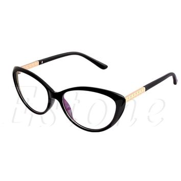 Women Eyeglasses Frame Fashion Cat Eye Clear Lens Ladies Eye Glasses Spectacles A46830