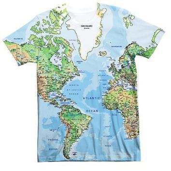 Summer O-Neck Short Sleeve Tee 3D Full Print Tops Wold Map T-Shirt Design Women/Men Hipster Graphic t-shirts Tumblr Outfits