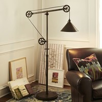 Warren Pulley Task Floor Lamp
