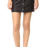 Oh Snap Vegan Leather Miniskirt
