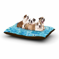 "Nic Squirrell ""Floating"" Multicolor Watercolor Dog Bed"