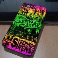 iPhone 4/4s case also iPhone 5 by order - SLEEPING WITH SIRENS POSTER
