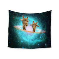 "Suzanne Carter ""Fred & Larry "" Teal Fantasy Wall Tapestry"
