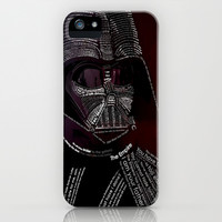 Star Wars Darth vader TypoGraph apple iPhone 4 4s, 5 5s 5c, iPod & samsung galaxy s4 case
