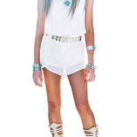White Romper With Halter Neck not available