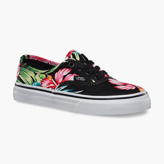 ee5c1ce8ecb Vans Hawaiian Floral Authentic Girls Shoes Black In Sizes