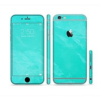 The Subtle Neon Turquoise Surface Sectioned Skin Series for the Apple iPhone 6s Plus