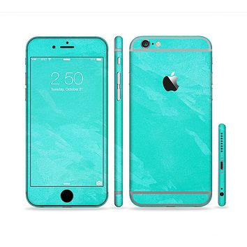 The Subtle Neon Turquoise Surface Sectioned Skin Series for the Apple iPhone 6 Plus