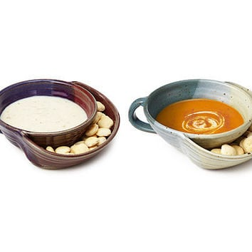 SOUP AND CRACKERS BOWL | chili, dip, double-duty, multi-function, handmade, Eric Hertz | UncommonGoods