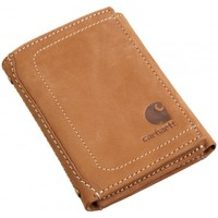 Carhartt Tan Nubuck Leather Trifold Wallet