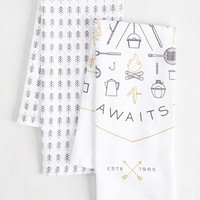 Thanks to Nature Tea Towel Set | Mod Retro Vintage Kitchen | ModCloth.com