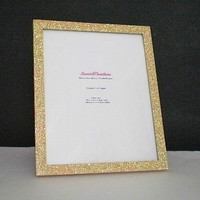 GOLD GLITTER FRAME - Sparkling Decorative Picture Frame for 8 x 10 photos or info
