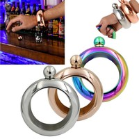 Ring Bracelet Flask Stainless 3.5 Oz 12 mm