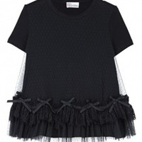 Tulle Bow Layer T Shirt by Red Valentino