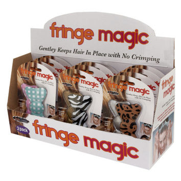 Fringe Magic Hair Bows Counter Top Display: Case of 12