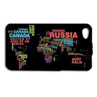 Cute Custom World Word Map Cool Phone Case Cover iPhone New Cool Black