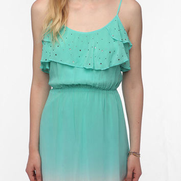 Chandi & Lia Silky Ruffled Ombre Dress