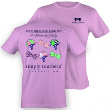 "Simply Southern ""Kentucky Derby"" Tee - Orchid"