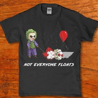 Not everyone floats - Joker kills Pennywise funny horror Men's t-shirt