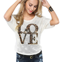 Papaya Clothing Online :: LOVE PRINT TOP