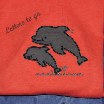 applique dolphin shirt