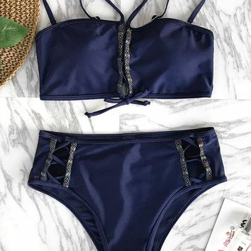 Cupshe Only You Lace Up Bikini Set